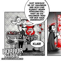 Grusel-Cartoon: Halloween-Deko