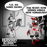 HK-Cartoon: Der Zuckerzombie