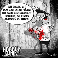 HK-Cartoon: Das Alk-Alien