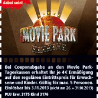 Rabatt Coupon Aktion für Halloween im Movie Park!