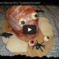 Halloween Rezept Video Tutorial: Schinken-Schädel