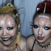 Gruselige Bodymodification: die Bagelheads aus Japan