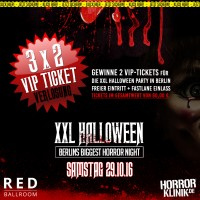 Halloween Party-Verlosung: Tickets für die XXL Halloween Party in Berlin