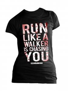 indie0203_the_walking_dead_girlie_shirt_run_like_a_walker_lizenzware_schwarz_weiss_rot_fanartikel_merchandise_860820000-67758